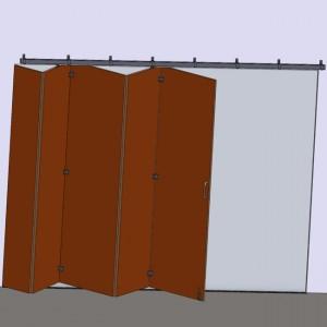 Ferrures pour portes de accordéon
