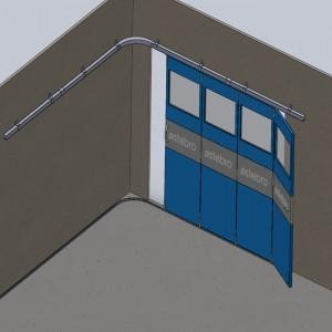 Ferrures pour portes coulissantes cintrées