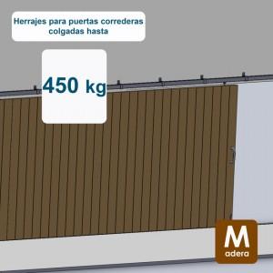 Ferrures pour portes coulissantes jusqu´à 450 kg