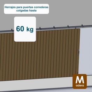 Ferrures pour portes coulissantes jusqu´à 60 kg