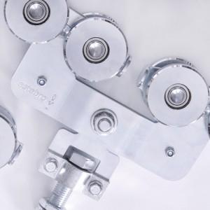 Ferrures pour portes coulissantes suspendues métalliques