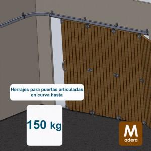 Ferrures pour portes cintrées jusqu´à 150 kg