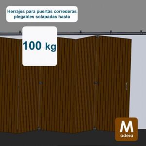 Ferrures pour portes coulissantes superposées jusqu´à 100 kg