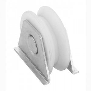 Roue en nylon gorge « V » 20 mm à souder