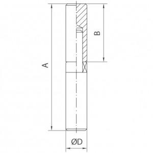 Paumelle profil rond avec roulement à billes inox poli