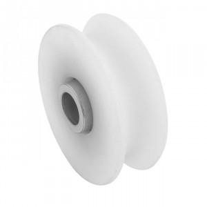 Roue en nylon gorge « U » 20 mm, roue a gorge nylon U20