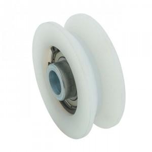 Roue en nylon gorge « V » 20 mm, roue a gorge nylone-a-gorge-nylon-V