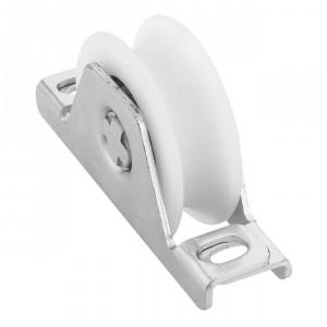 Roue en nylon gorge « U » 20 mm à encastrer, roue a gorge nylon encastrer