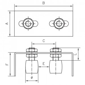 Plaque guide simple plaque guide porte coulissante simple