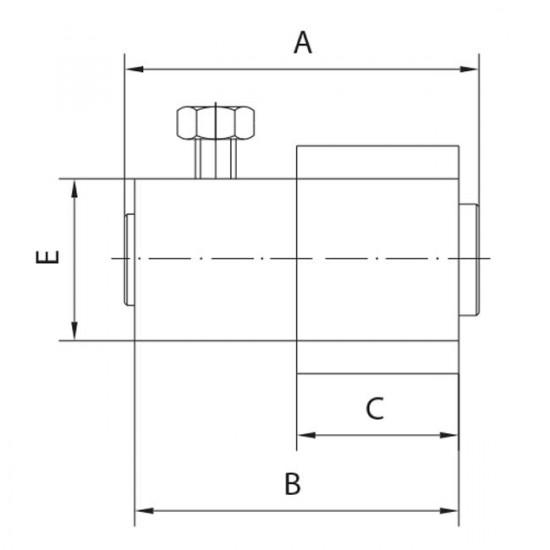 Charnière d´angle supérieur, pour porte de garage basculante