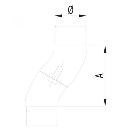 Coude angle réglable inox