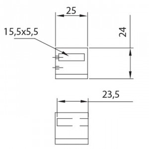 Support d´extrémité platine gauche, garde corp inox