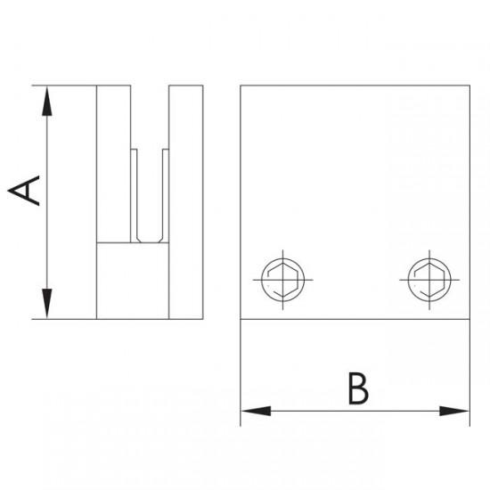 Pince carrée embase plate