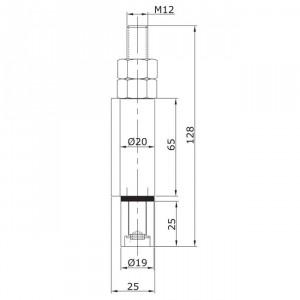 Guide inférieur d´extrémité à souder U-19 porte pliante