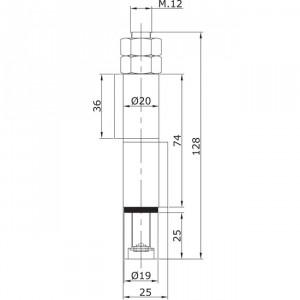 Guide inférieur intermédiaire à souder U-19 porte pliante