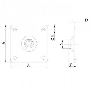 Plaque pour pivot réglable, plaque gond