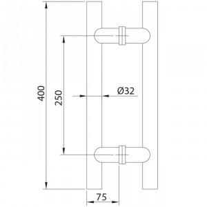 Poignée modèle 5 inox