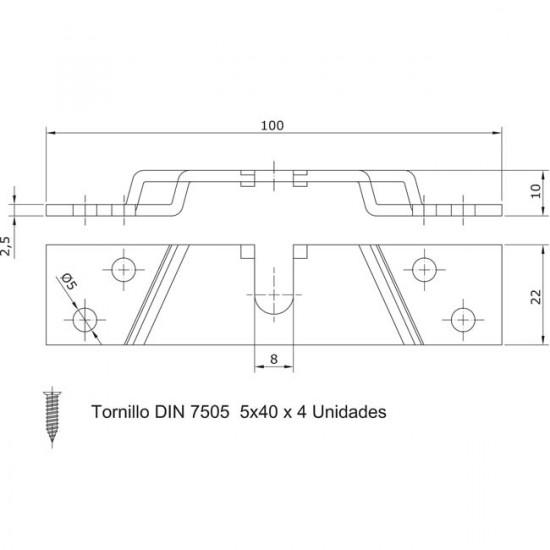 Set adaptateur à bois pour chariot U-30 por portes coulissantes