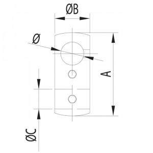 Connecteur tige verticale pour garde corps inox