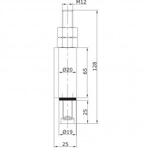 Guide inférieur d´extrémité à souder U-19 inoxydable pour portes
