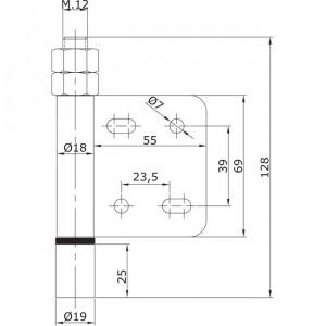 Guide inférieur d´extrémité à visser U-19 portes coulissantes