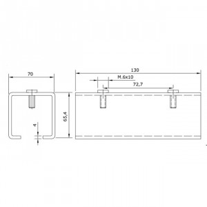Joint pour rail U-60 inoxydable porte coulissantes