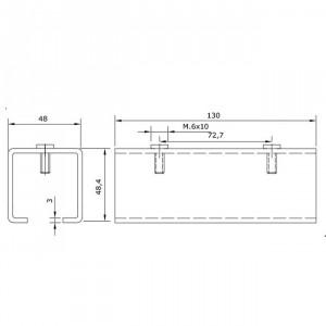 Joint pour rail U-40 inoxydable portes coulissantes