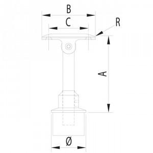 Support réglable en hauteur et angle pour garde corps