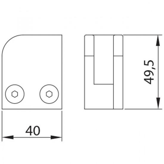 Pince a verre base plate gauche