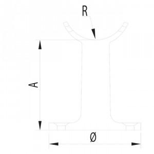 Support mur en acier inox pour garde corps
