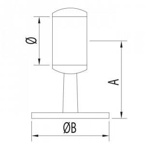 Support anneau passant rond inox pour garde corps
