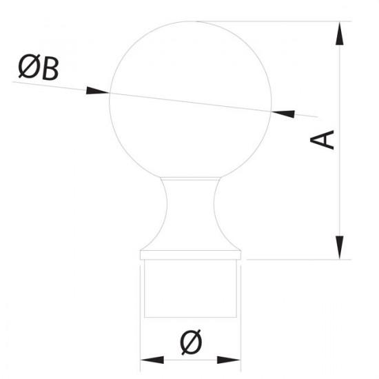 Bouchon boule inox pour garde-coprs