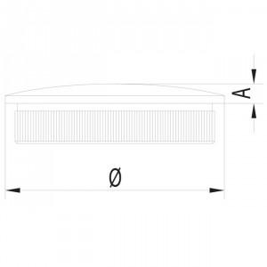 Bouchon courbé creux inox pour garde corps inox