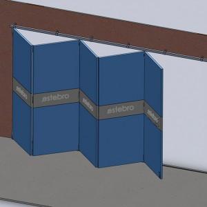 Ferrures pour portes coulissantes superposées