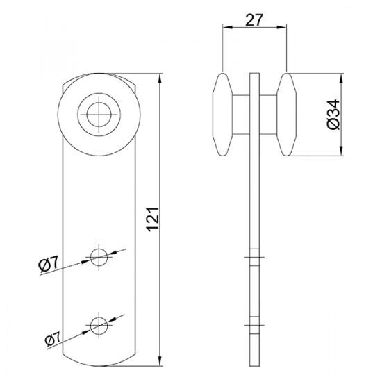 Monture simple U-40 en nylon fixation