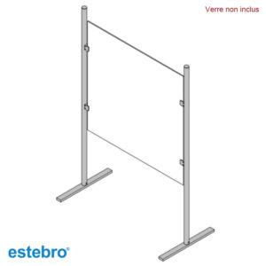 Poteaux ESTEBRO Acier INOX AISI 304